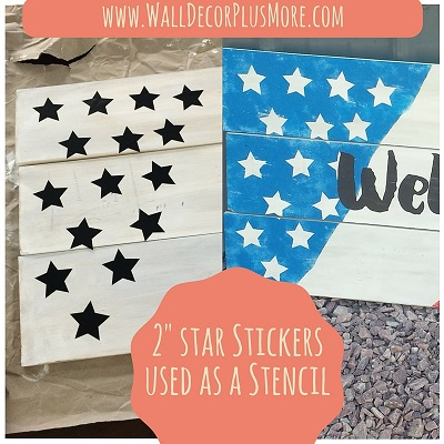 "These 2"" decal stickers will allow you to easily paint starts onto your surface!"