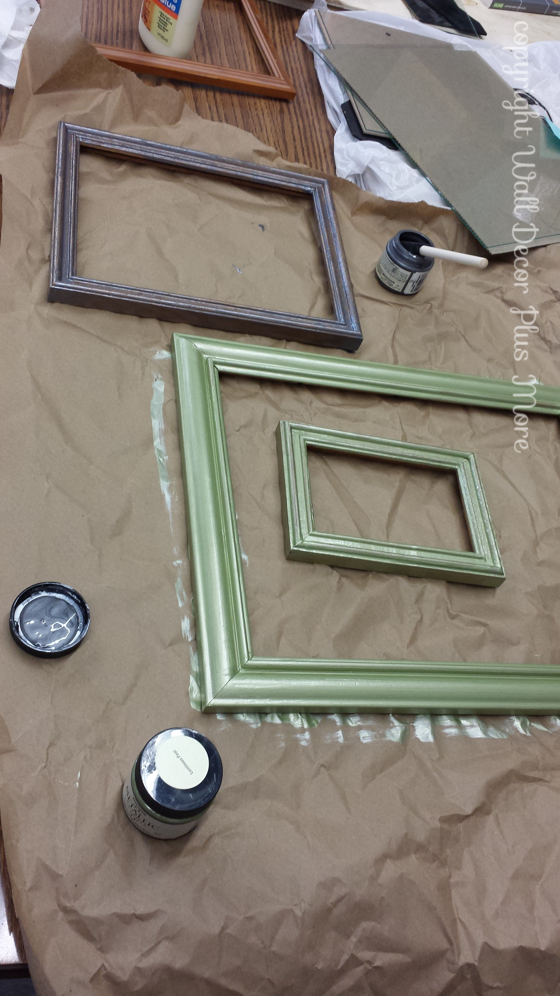 Painting Photo frames to make Floating Glass Frames