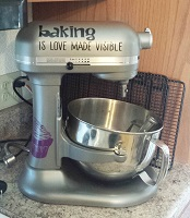 Baking is Love Made Visible with Cupcakes Kitchenaid Stand Mixer Decals