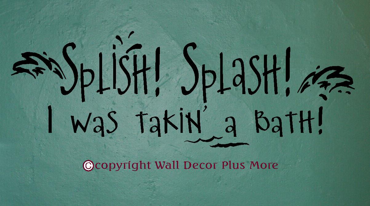 Splish Splash Wall Decal Sticker