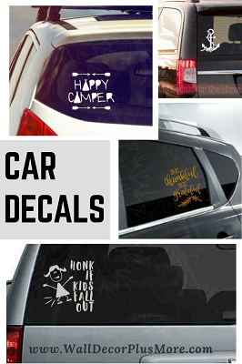 Car Window Decals - there's one for every one!  Why do you need to decorate your car with decals?  Its SURE to brighten up the day for your fellow travelers!