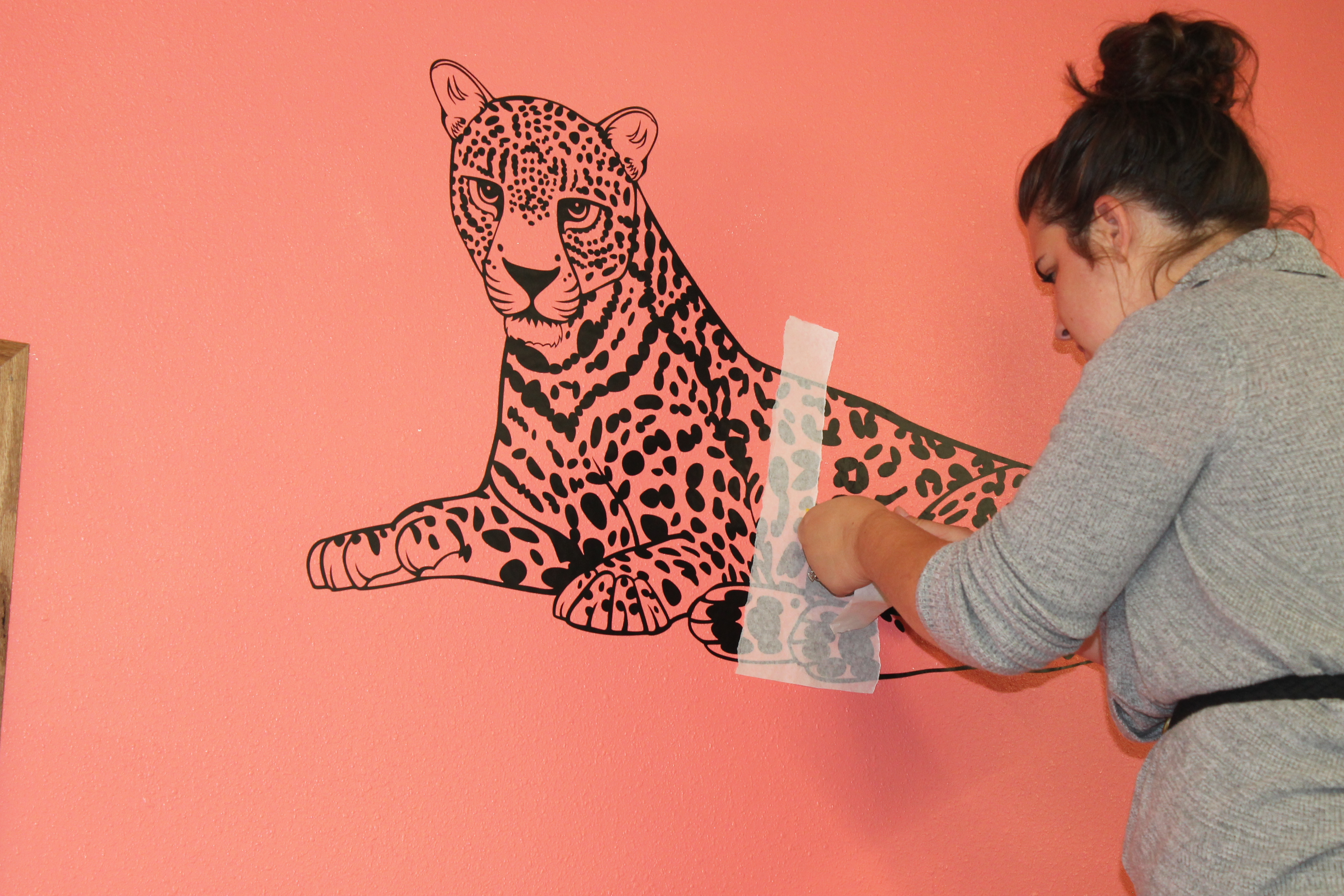 Applying a wall decal