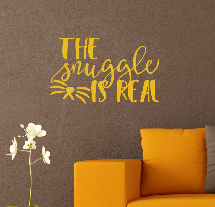 CLN055 The Snuggle Is Real Wall Decal Sticker