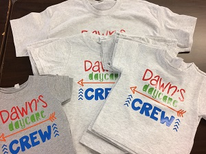 DayCare Crew Shirts for Christmas Gifts