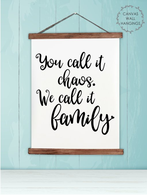 Family Chaos Wall Art Decor Canvas Wall Hanging Sign