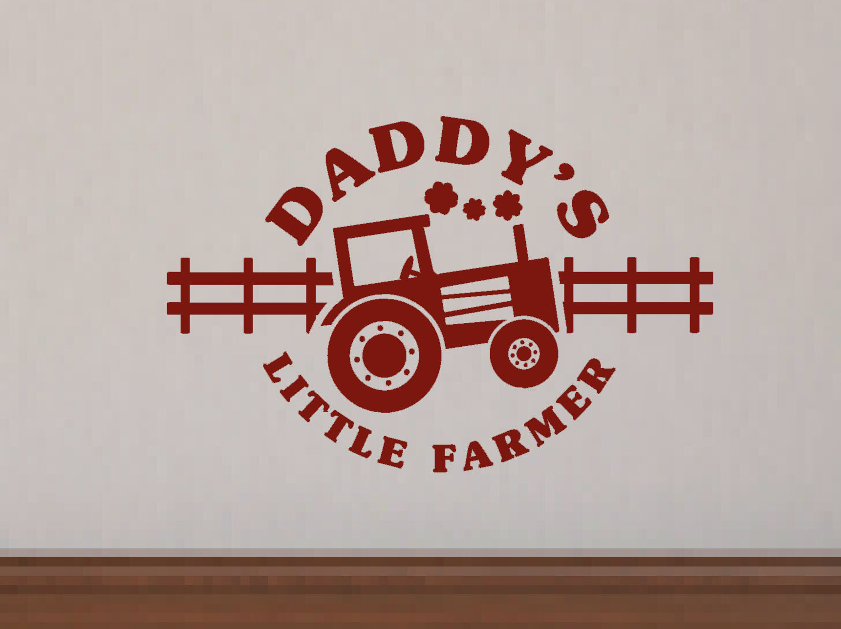Daddy's Little Farmer Farm Cowboy Wall Decal Stickers