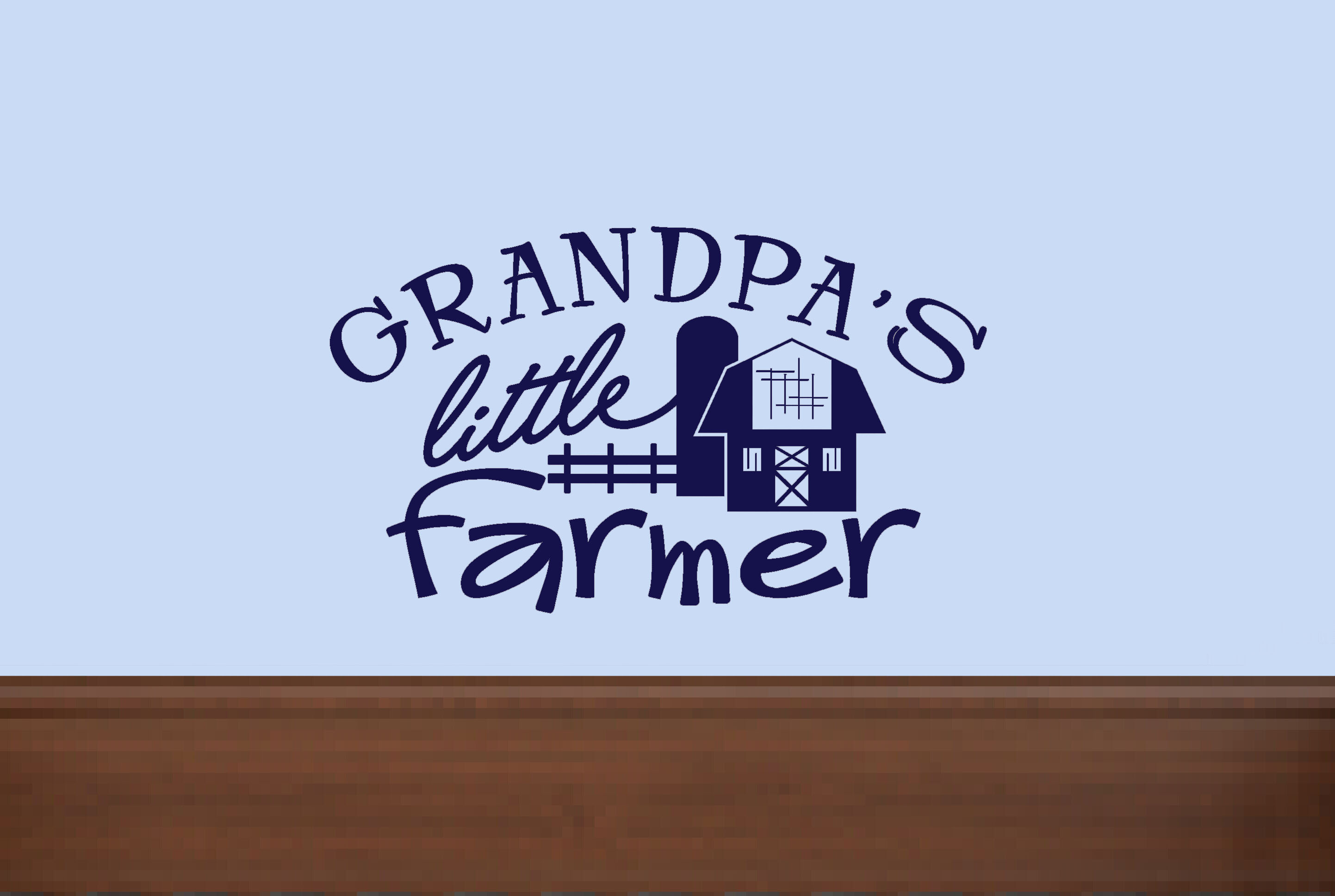 Grandpa's Little Farmer Boy Cowboy Wall Decals Stickers