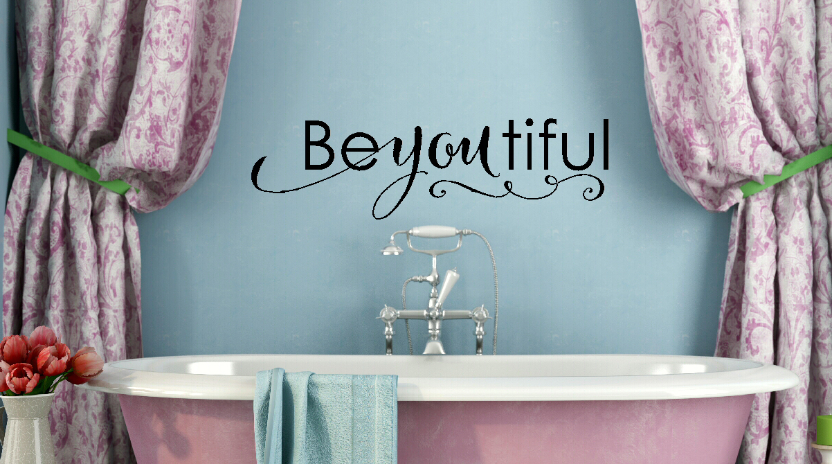 Be-You-Tiful Bathroom Wall Decal Stickers