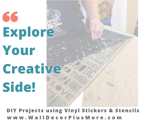 Making Wood Signs with Stencil Stickers