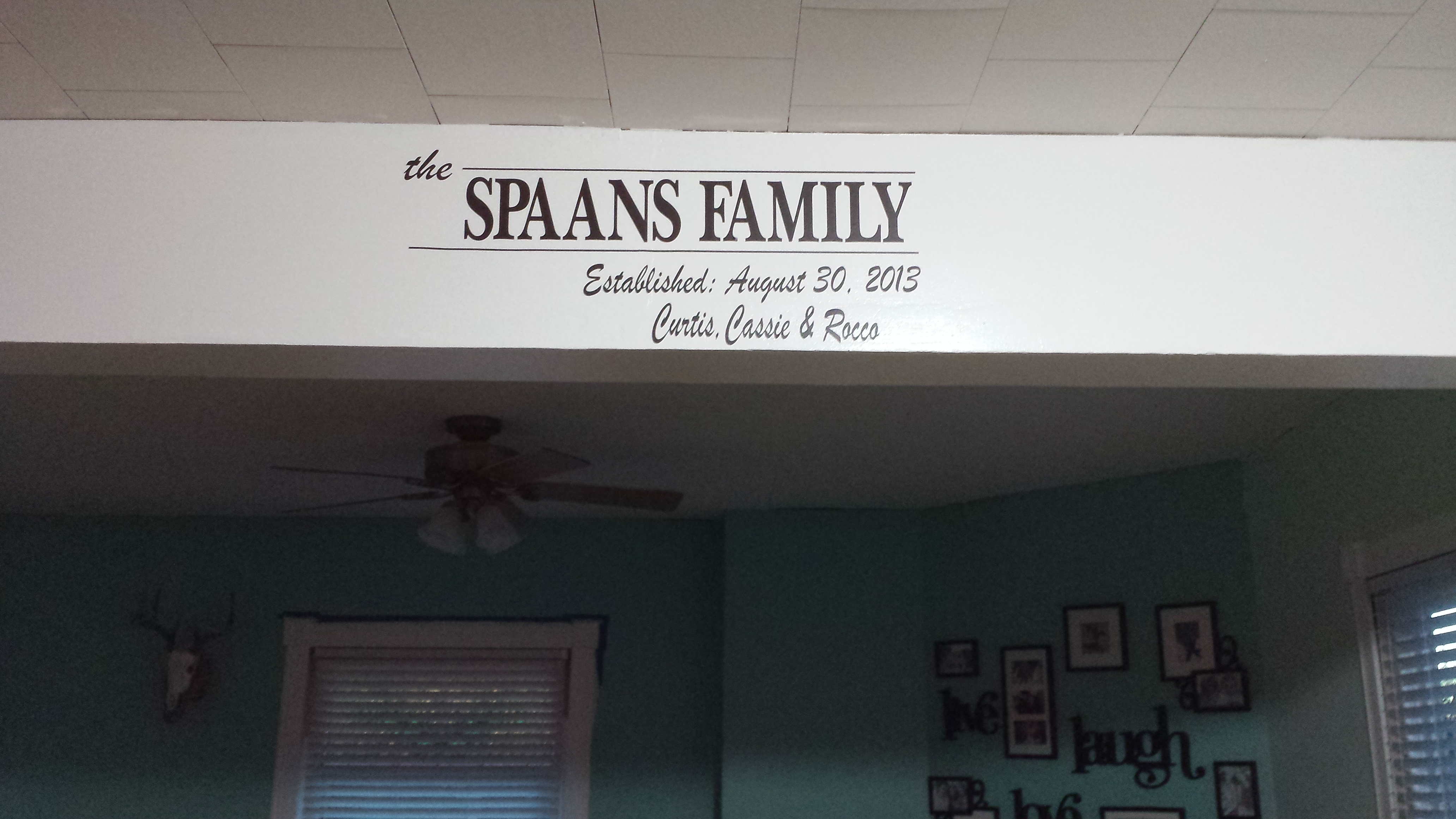 Family Name Established Date Personalized Wall Sticker