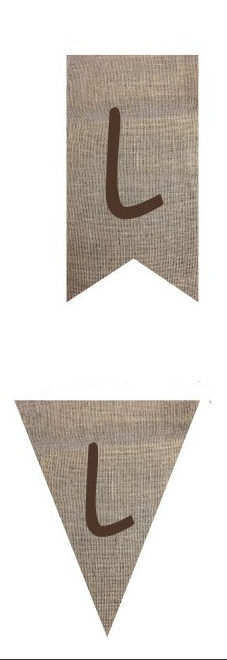 Burlap Banner Flag Shape Options
