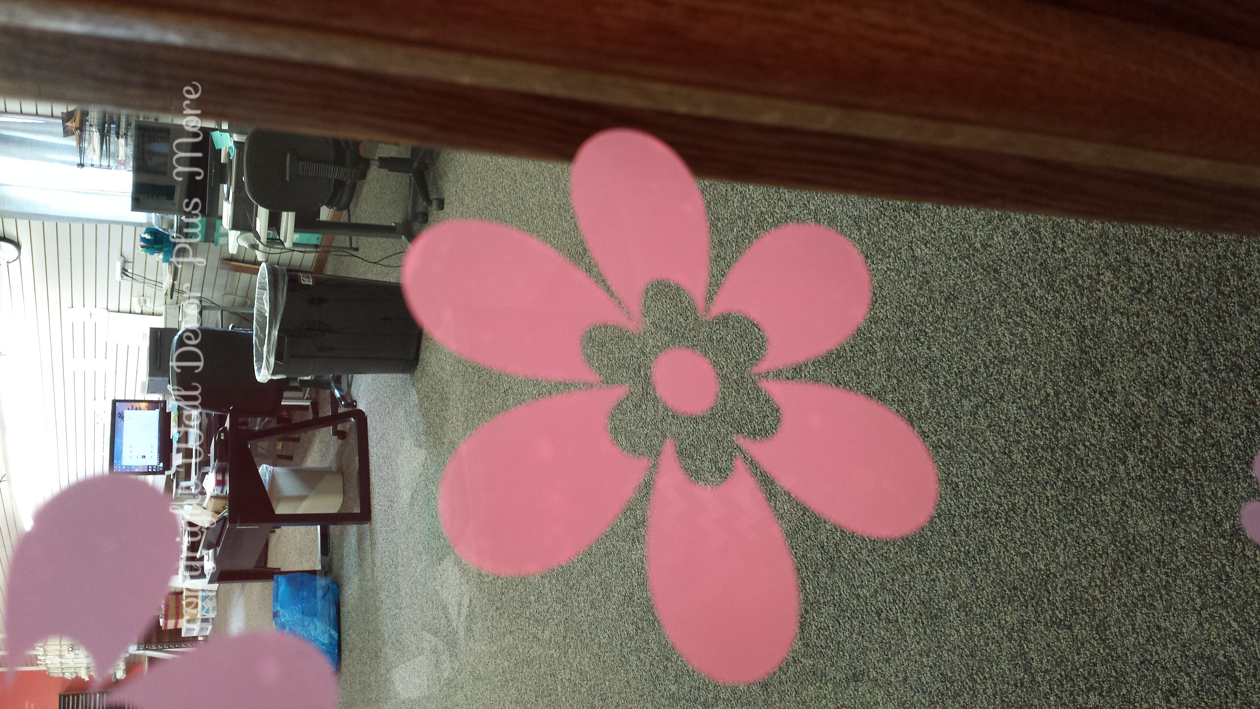 Soft Pink Flower Wall Decals Vinyl Sticker on Glass