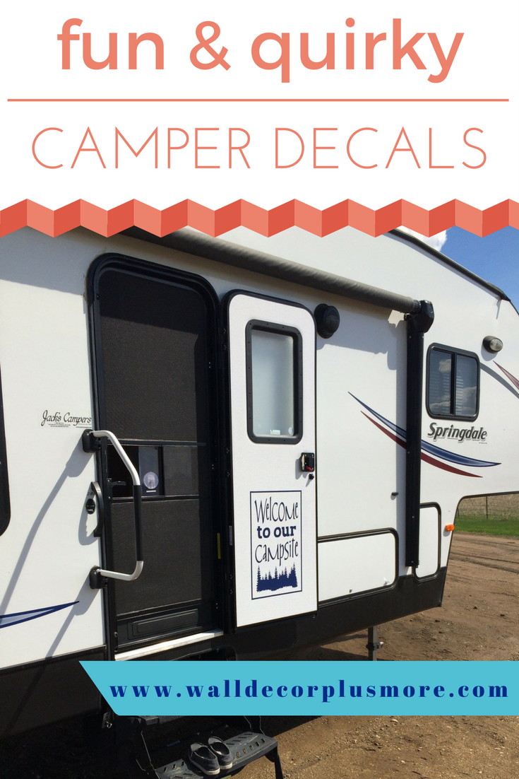 Fun quirky camper decals png
