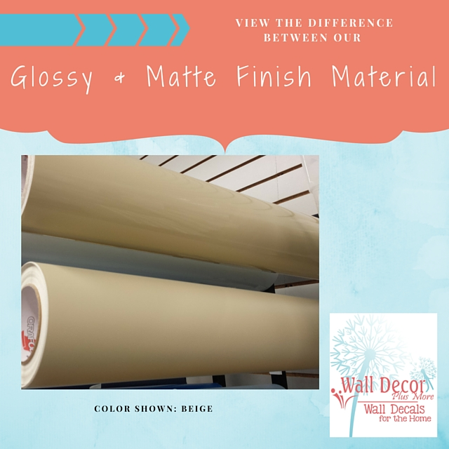 Difference between matte wall decal material and glossy outdoor vinyl sticker material