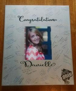 Graduation Decals on Graduation Signature Board