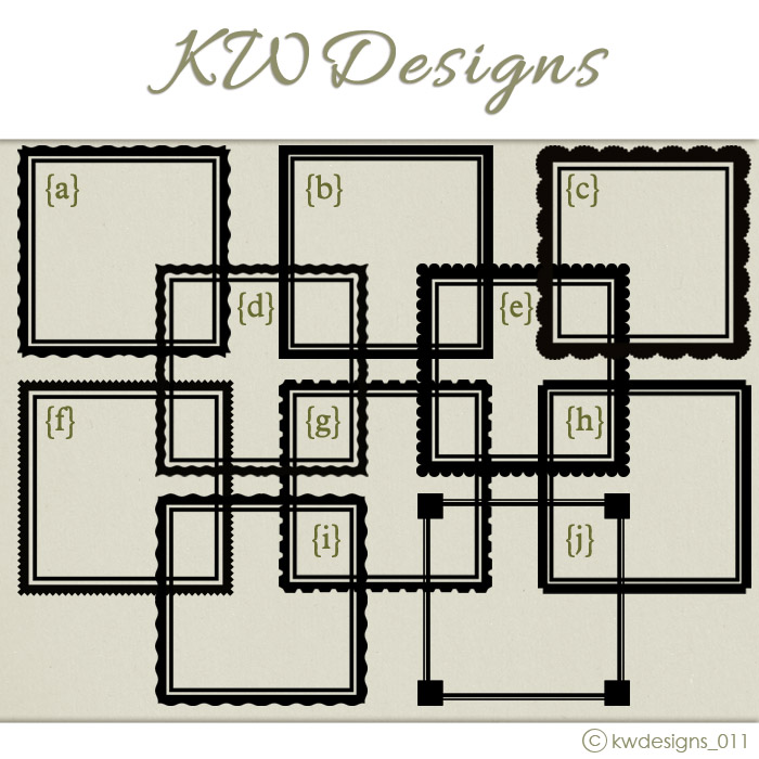 Wall Decal Frame Border Options