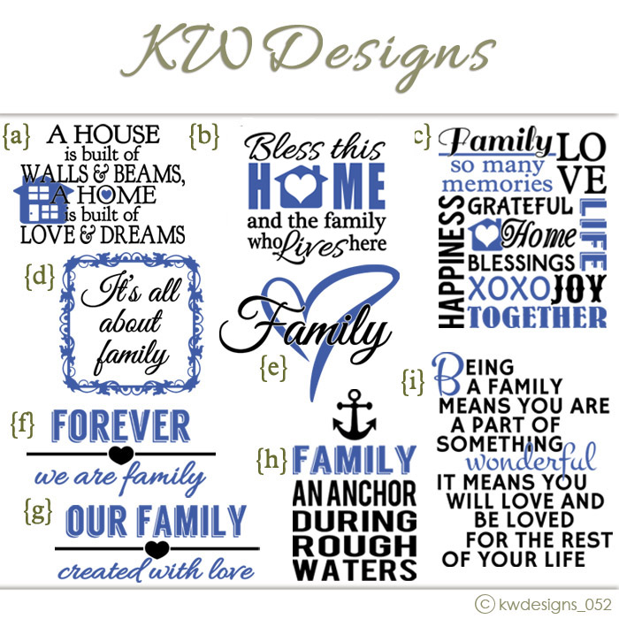 Family Wall Decal Quote Idea Designs