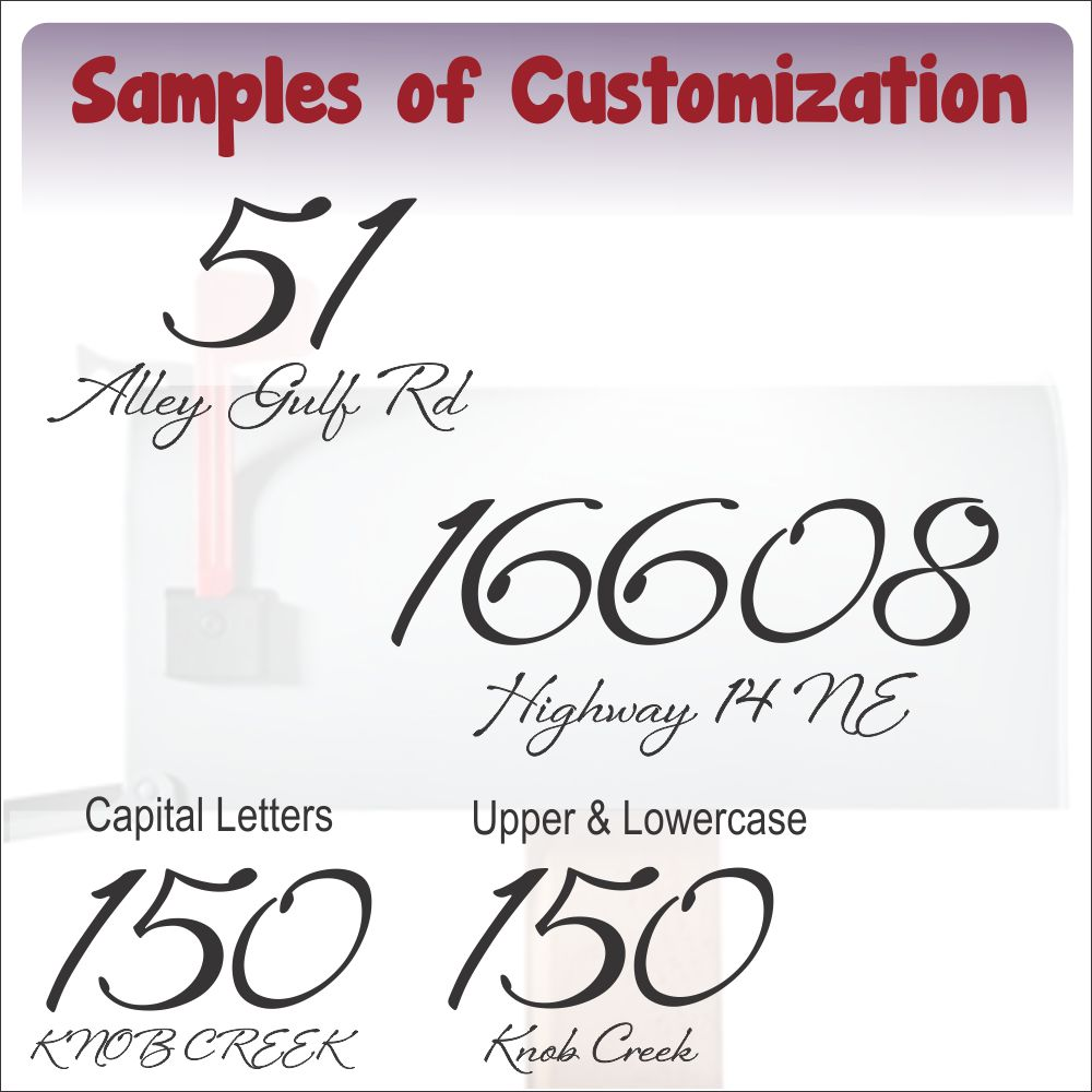Mailbox15 Sample Text Customization Font Lettering Suggestions