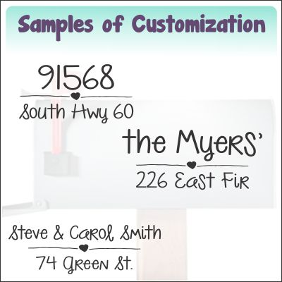 mailbox23 text sample ideas customization for mailbox decals