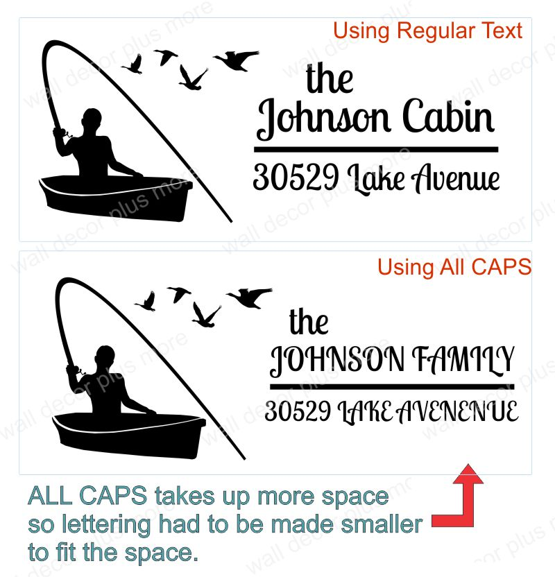 Custom Text Mailbox Decals Vinyl Stickers Using All Caps Tips