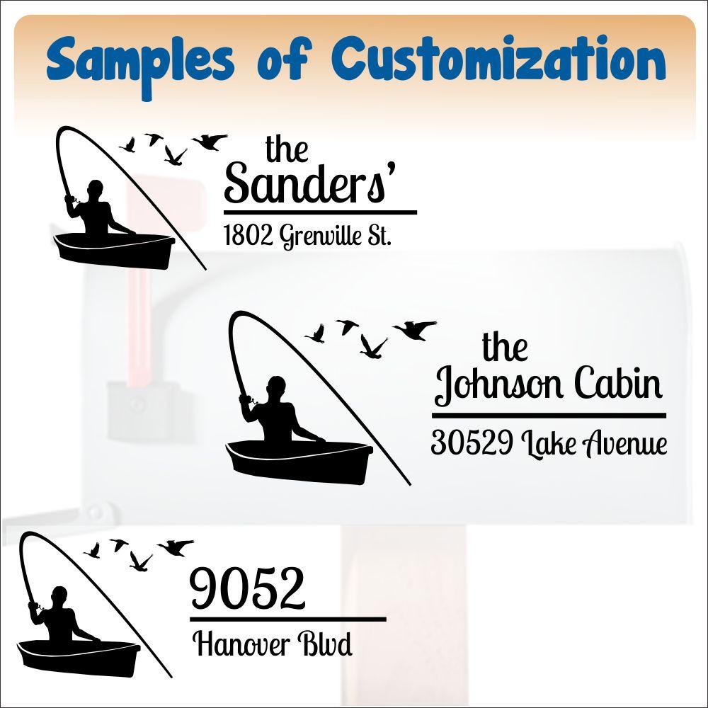 mailbox35 fishing boat text sample ideas mailbox decals customization