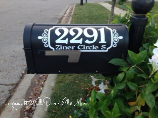 Decorative Mailbox Decals Custom Stickers for Address