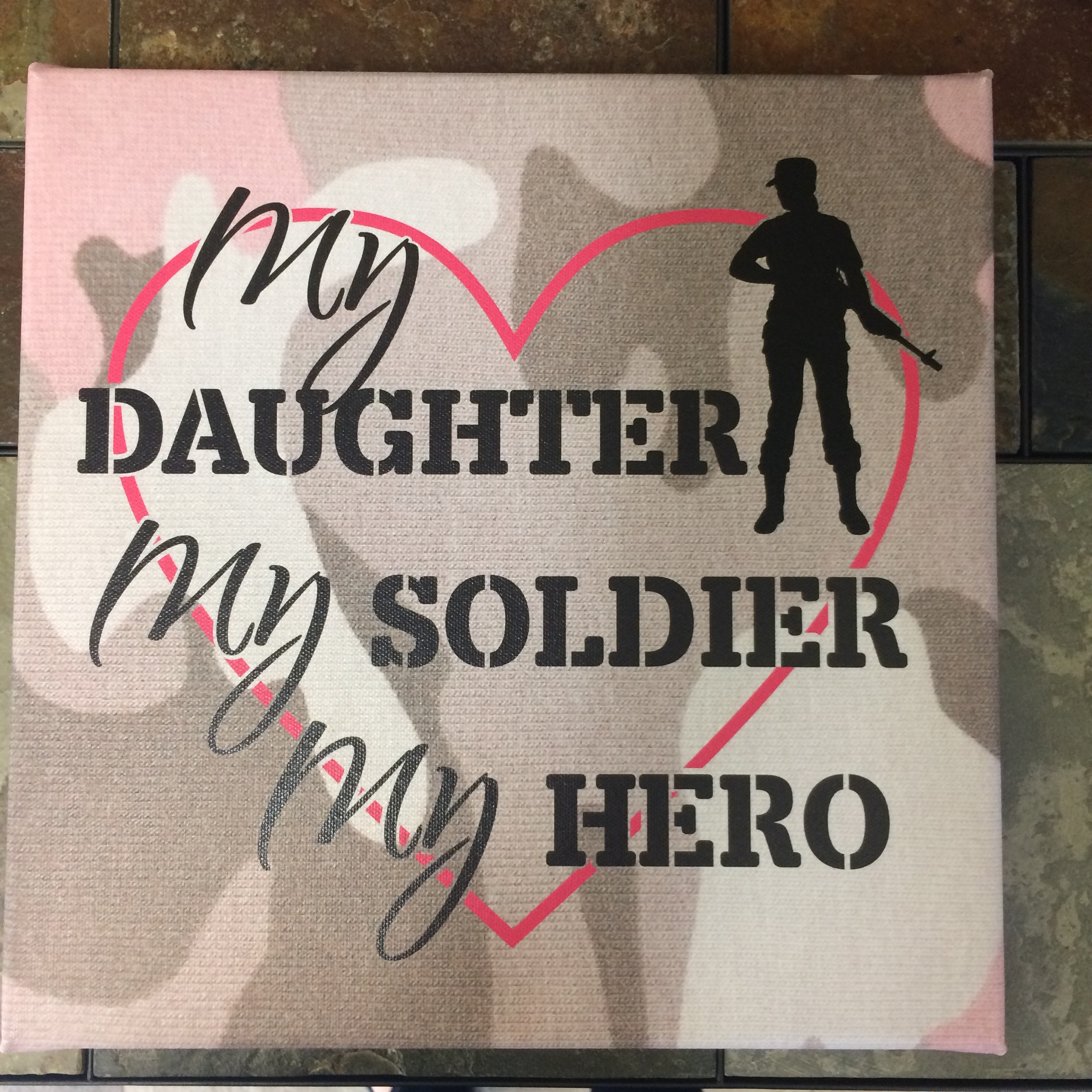 My Daughter, Soldier, Hero Framed Canvas Print Wall Art