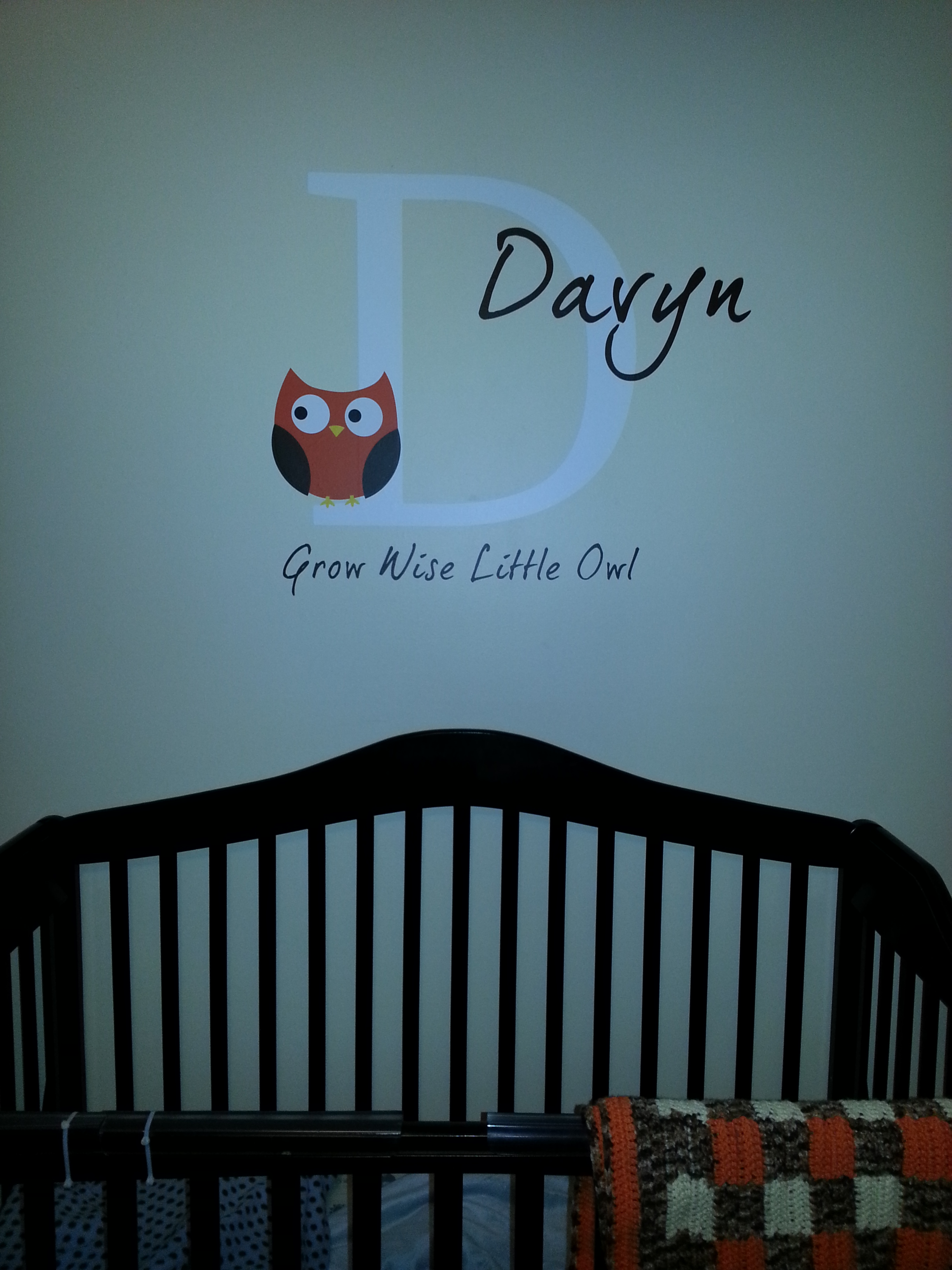 Custom Design with Small Wall Name Decal , Great for Kids Room, 6x24