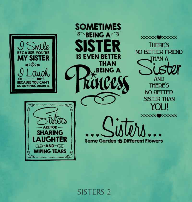 Sister Wall Decal Sayings Quotes