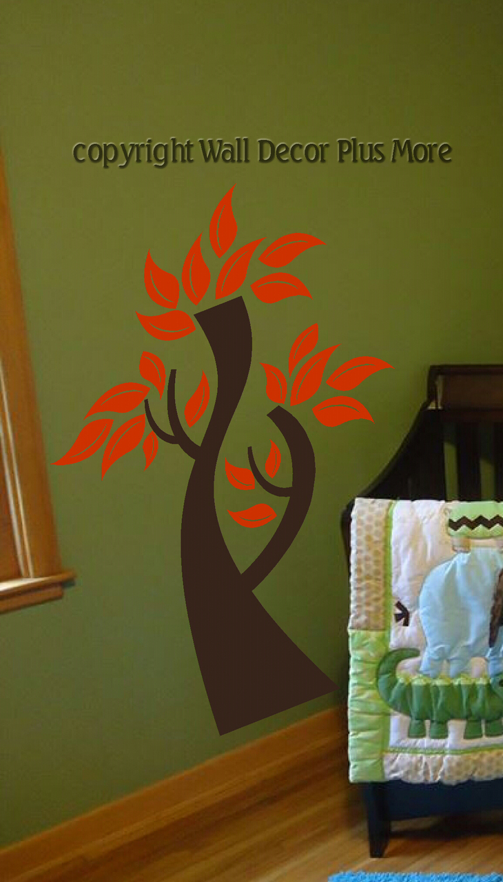 Spring decorating tree wall sticker