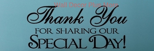 Thank You Wedding Wall Sticker