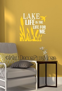 Lake Life Camper Beach Summer Quotes Vinyl Wall Decals