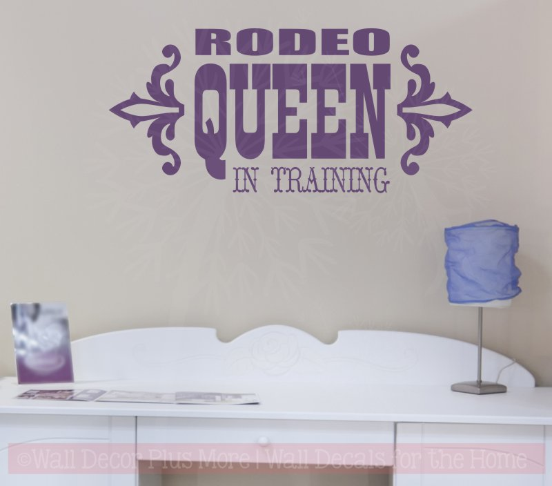 W025 Rodeo Queen In Training wester wall decal stickers for Girls Room Nursery
