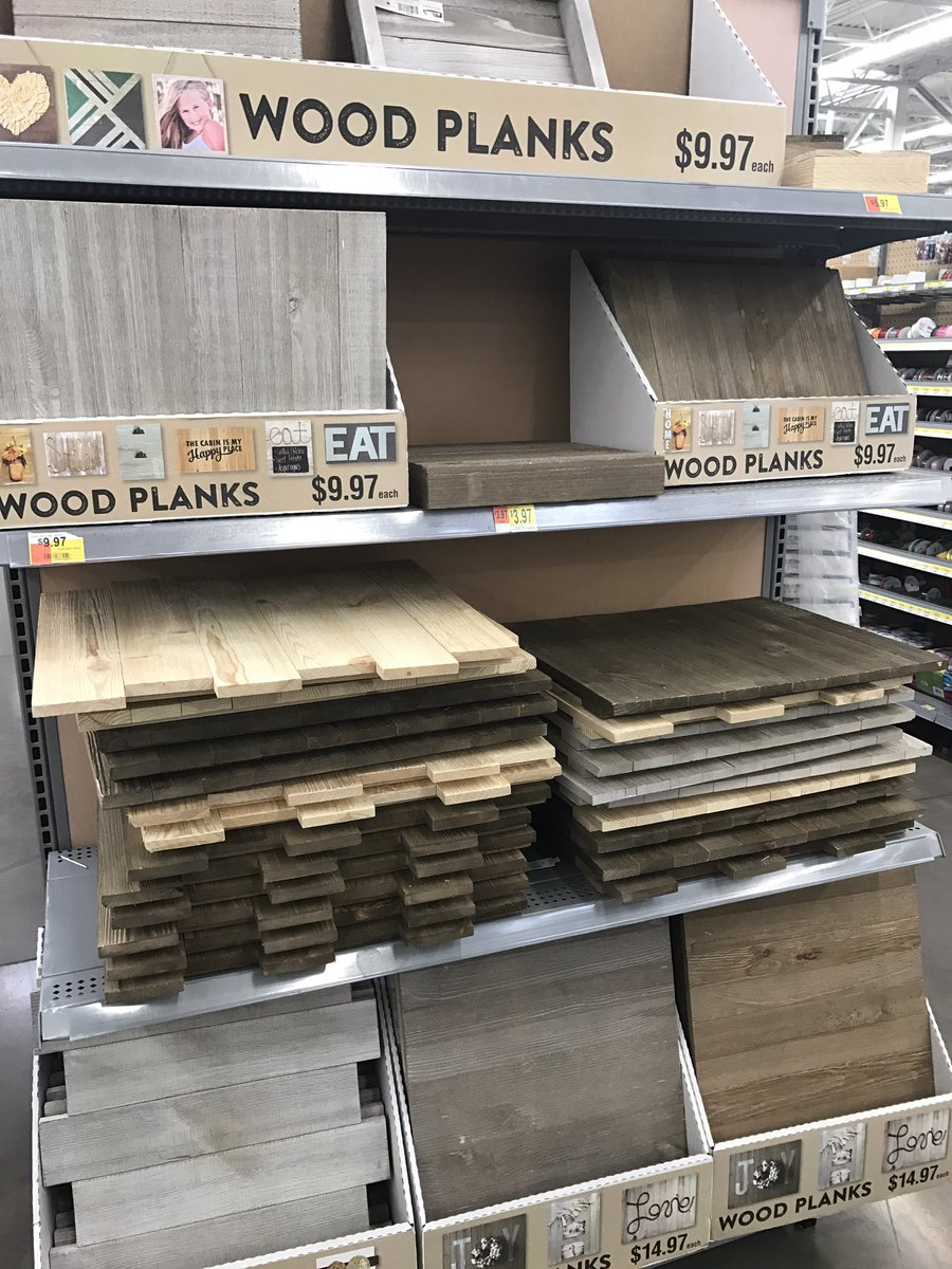 Apply our Wall Decal Stickers to pretty much anything! Checkout the craft section at Walmart or your favorite craft store for Wood Plank blanks in a variety of sizes, shapes and styles.