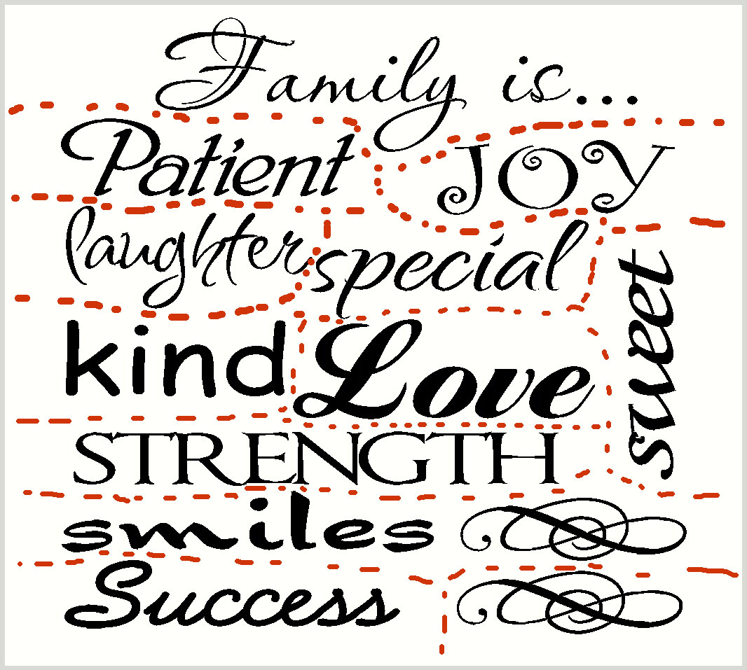 WD083 Family Is... Collage Wall Decal Quote