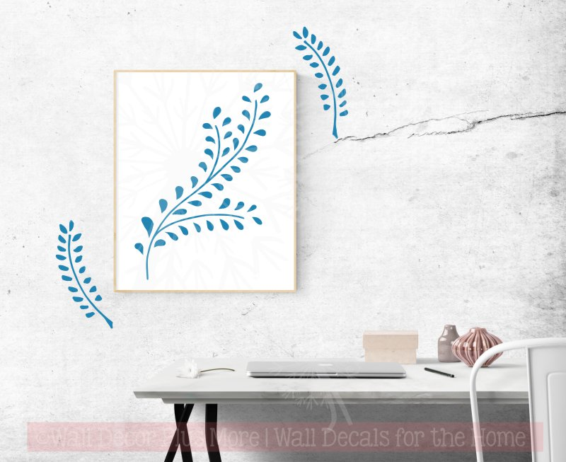 Laurel Leaf Branch Wall Decal Sticker Home Decor Floral Designs