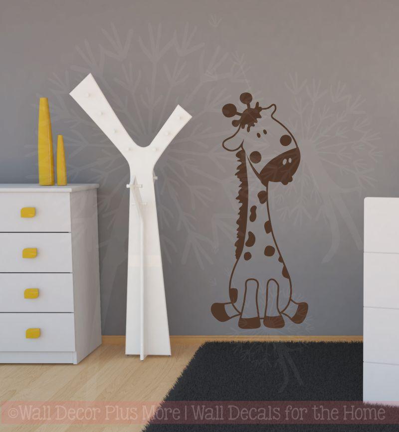 Baby Giraffe Vinyl Wall Sticker Decals