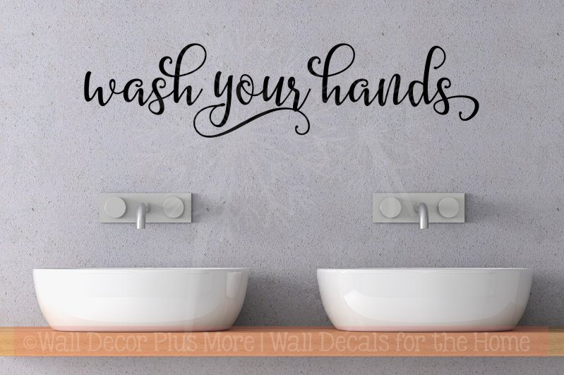Wash Your Hands Wall Decal Stickers