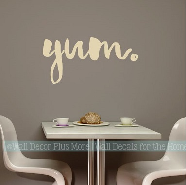 Kitchen Wall Stickers Yum Vinyl Lettering Decals for Kitchen Home Decor