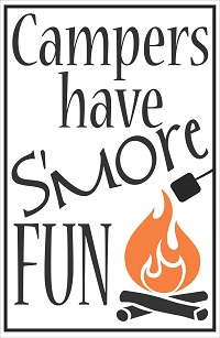 Campers S'more Fun Wall Decal Lettering Stickers for Camper RV decor