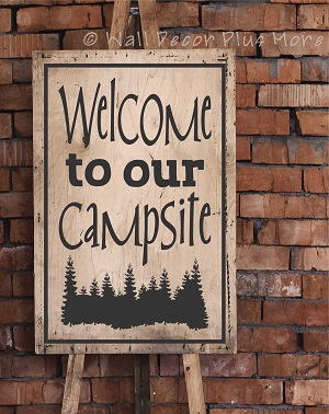 Welcome Wall Decal for Camper RV Decor Summer Quotes Campsite
