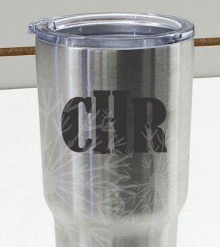Personalized Monogram Tumbler Mug Decal Stickers