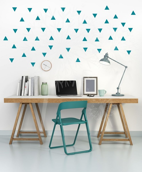 WD675 Tiny Triangles wall sticker shapes