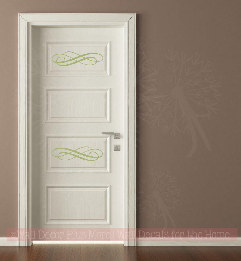 WD741 Swirls on a paneled door