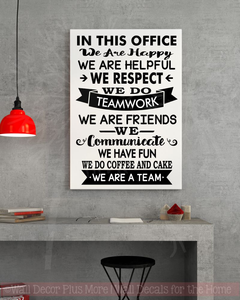 In This Office... wall decal stickers