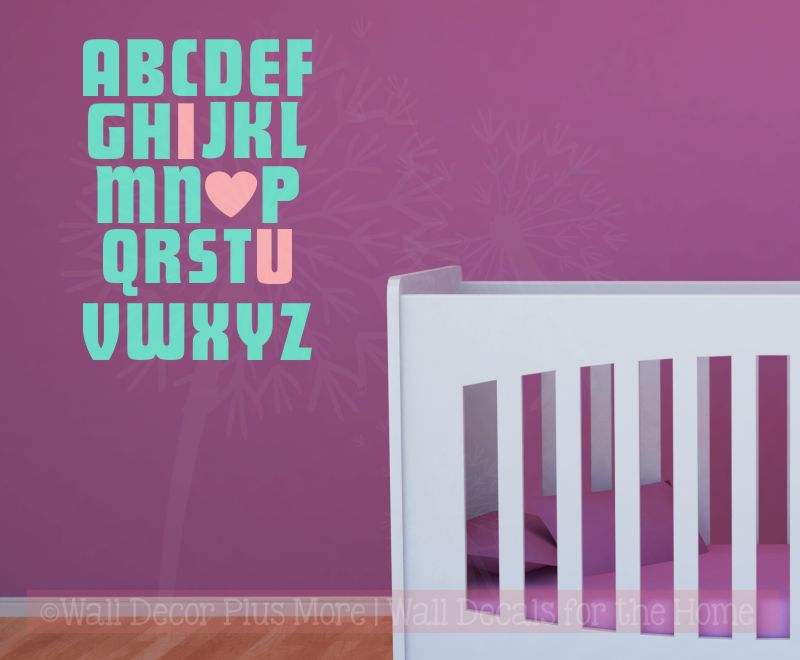 Wall Stickers I LOVE YOU Alphabet Nursery Vinyl Decals Art Bedroom Art Home Decor
