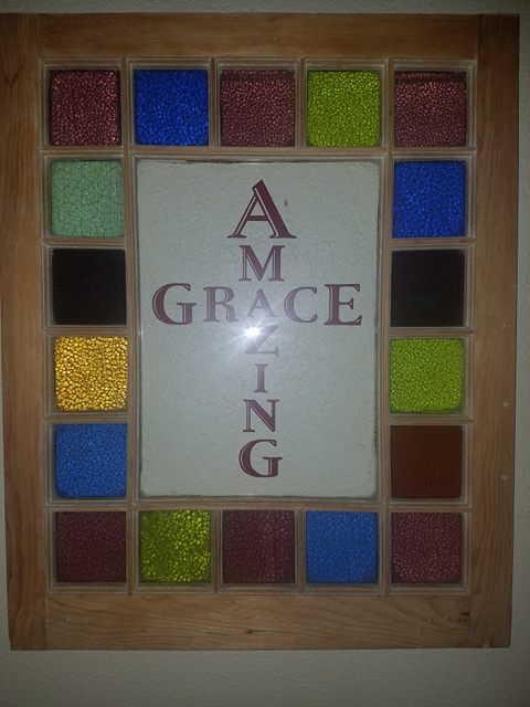 Amazing Grace Custom Wall Decal Sticker for Window Pane