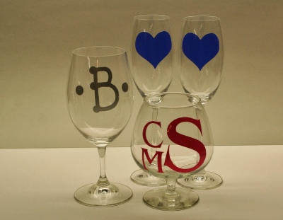 Wedding decals for glasses