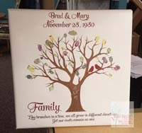 Family Quote and Personalized Family Tree Wall Canvas