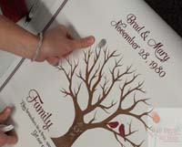 Family Tree Canvas add finger prints in colored ink WM0024